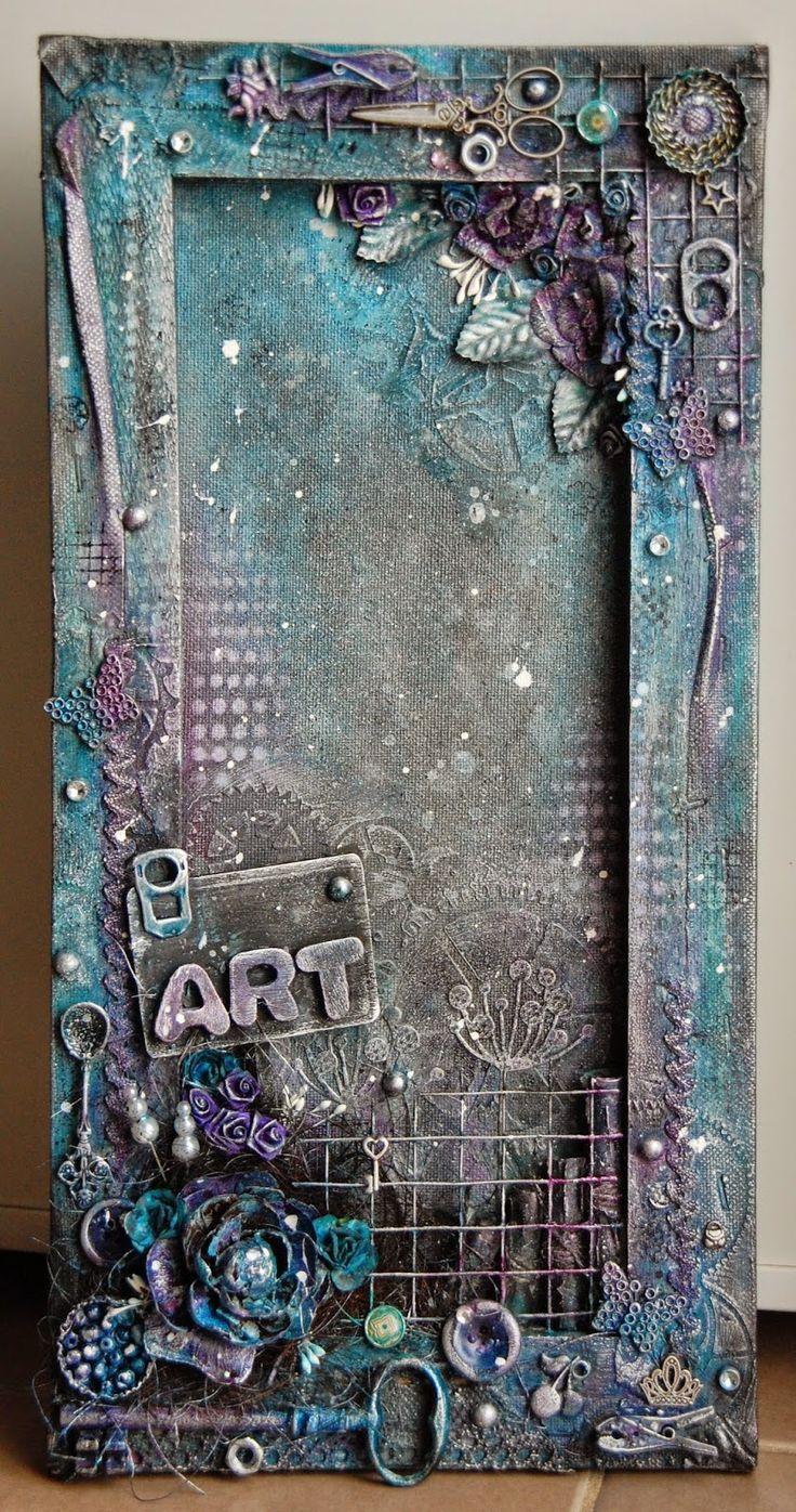 Best 25 canvas frame ideas on pinterest diy canvas for Mixed media canvas art ideas