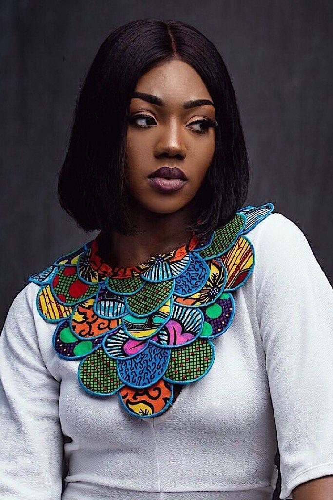 African Fabric Collar Necklace Vibrant ankara plea…