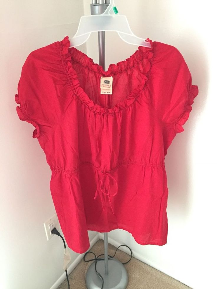 faded glory red t shirt  size 20 #FadedGlory #tshirt