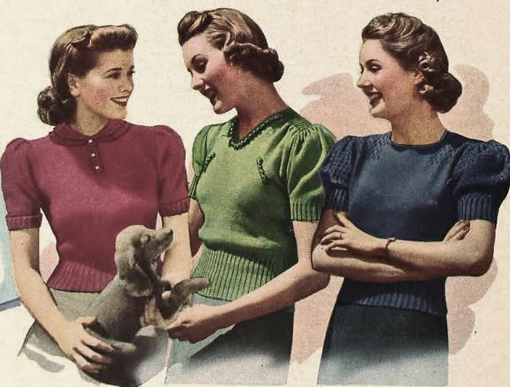Ode-to-the-Sweater---1940s-wartime-women---Sears