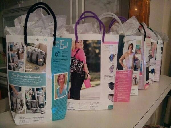 Use old catalogs as gift bags!