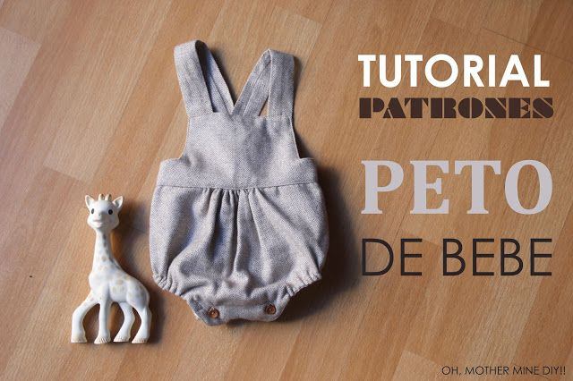 DIY Tutorial y patrones: peto de bebé | Oh, Mother Mine DIY!! | Bloglovin'