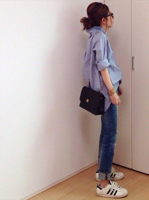 Deuxieme Classeのシャツ・ブラウス「◆ヘアラインストライプシャツ」を使ったmayumiのコーディネートです。WEARはモデル・俳優・ショップスタッフなどの着こなしをチェックできるファッションコーディネートサイトです。