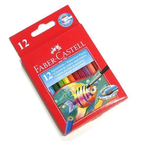 Faber Castell (Mini Size) 12 Aquarellstifte Watercolour Watercolor Pencils #FaberCastell