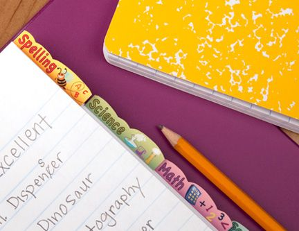 back to school divider tabs for the chitlens.  #back #school #dividers