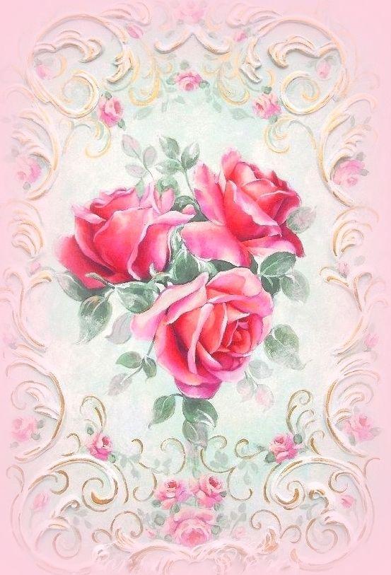 Открытки с розами для стен