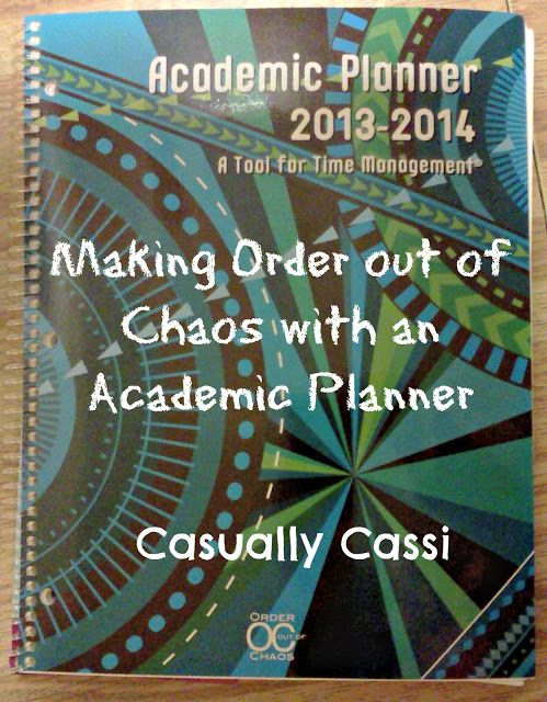 Casually Cassi: Making Order out of Chaos with an Academic Planner #organization   #academicplanner #calendar #timemanagement #productrecommendation #consumerinfo #ADD #ADHD #tomoson
