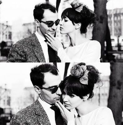 Anna Karina and director Jean-Luc Godard