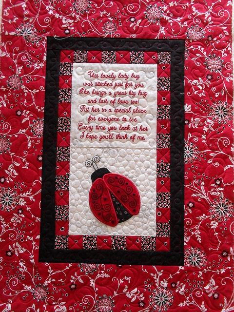95 best LADYBUG QUILT images on Pinterest | Ladybugs, Lady bug and ... : lady bug quilts - Adamdwight.com