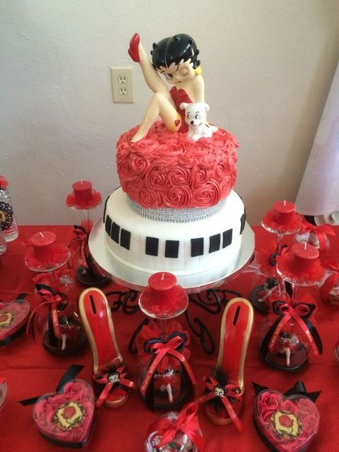 Betty Boop Birthday Party cake! See more party ideas at CatchMyParty.com!