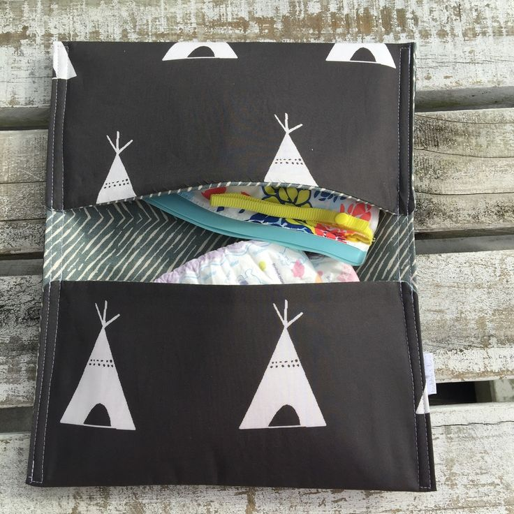 Image of Black teepee nappy wallet