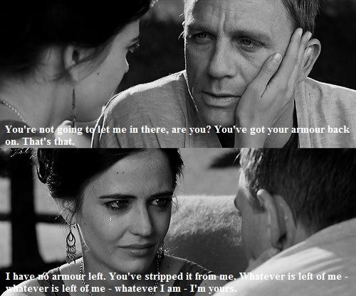 I cry, I cry, and I cry even more every single time I watch this. Just because they're both gorgeous. And this is the cutest thing ever. Favorite quote!