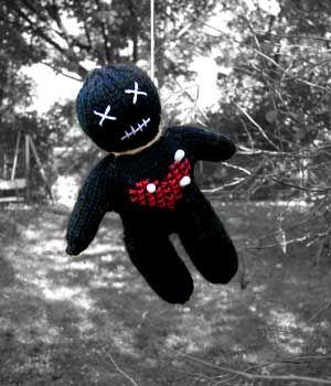 Voodoo doll - I love it.  I need to make 3 immediately!!!