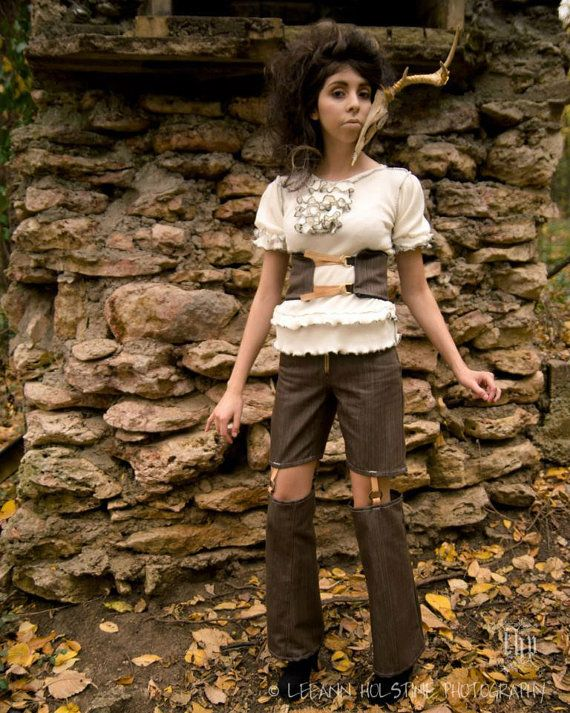 """N.H.I. designer steampunk haute couture outfit """"THE WAYFARER"""" spring 2013 collection"""