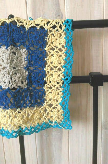 Crochet pillow in progress