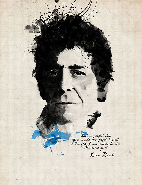 Lou Reed - Watercolor Project #Illustration #watercolor #loureed