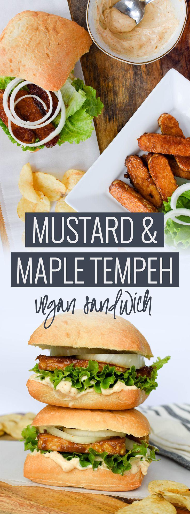 Mustard Maple Tempeh Sandwich // Vegan Sandwich // Vegan Lunch // Easy Vegan Lunch // Healthy Vegan Lunch // Healthy Vegan // Healthy Vegan Recipes // Easy Vegan Recipes //