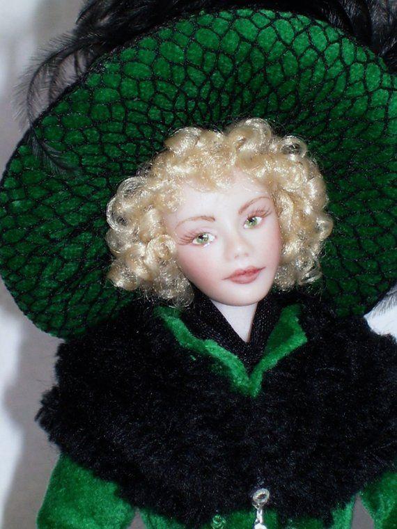 1 12th Scale Dollhouse Miniature Porcelain Edwardian Era Young Woman Doll Carol By Terri Davis Dollhouse Miniatures Edwardian Edwardian Era