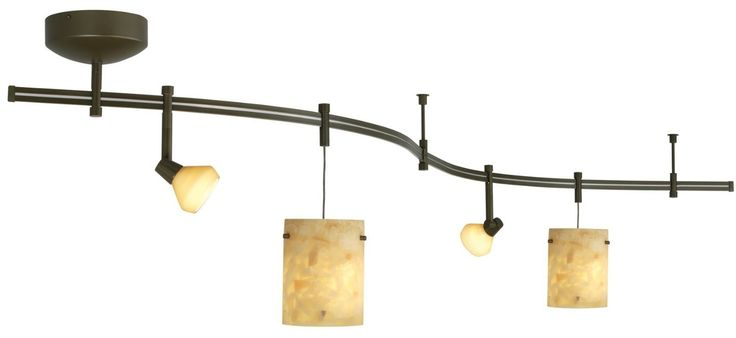 Brushed Bronze Flexible Track Lighting Systems Feat Drum Shade Lamps Also Halogen Spot Lights As Midcentury Kitchen Lighting Decors Ideas Application Of Awesome Flexible Track Lighting Systems In Modern Kitchen Ideas kitchen lighting design, led kitchen lighting, fixed track lighting fixtures, flexible track lighting parts, best flexible track lighting kits, . 600x276 pixels