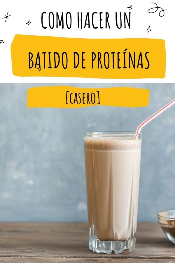 Batido De Proteinas Casero Para Ganar Masa Muscular Receta Receta Batido Proteinas Casero Batidos Para Masa Muscular Batido Proteina