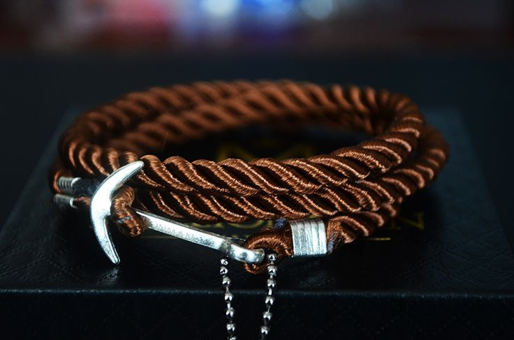 Dark Copper Anchor Rope Bracelet.