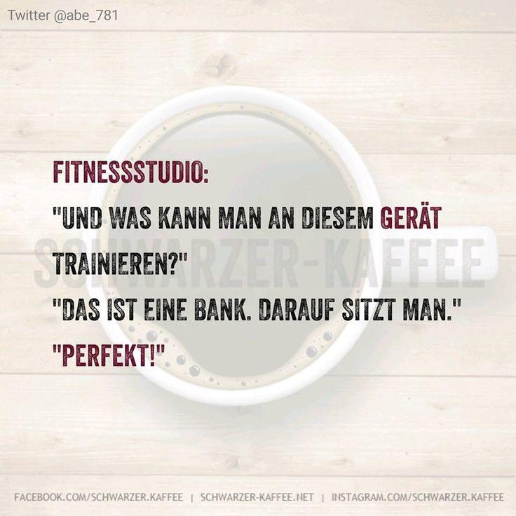 Fitnesstudio: Und was kann man an diesem Gerät trainieren? Das ist eine Bank. Darauf sitzt man. Perfekt!