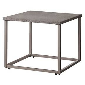 Heatherstone Metal Patio Side Table - Threshold™ : Target