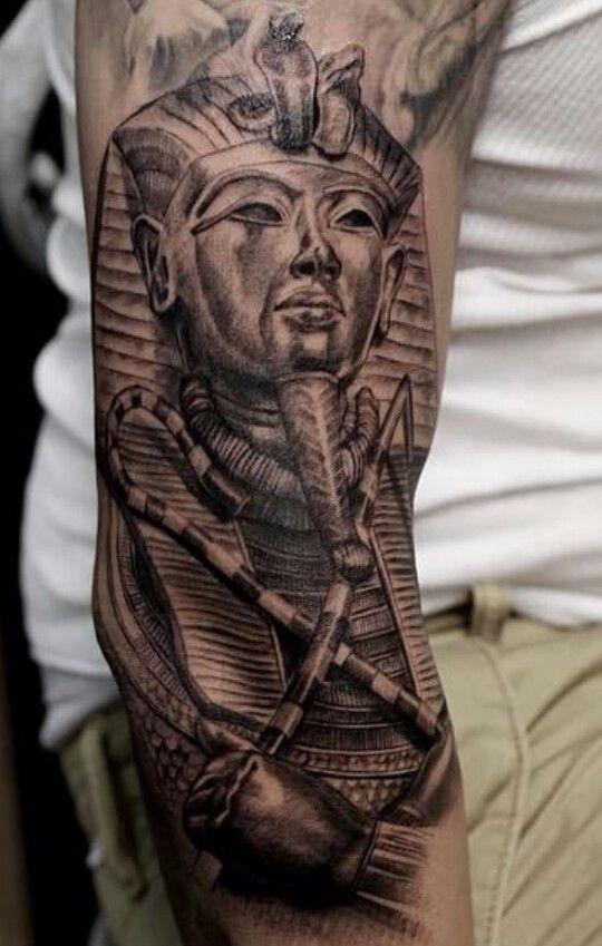 King Tut Tattoo Sleeve