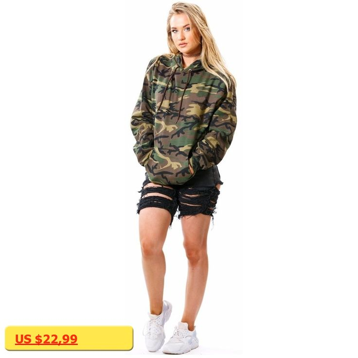 New Supreme hoodie Sweatshirt Women Long Sleeve Tops Hoodies Army Green Camouflage Tops Jumpers Pullovers Women Fashion