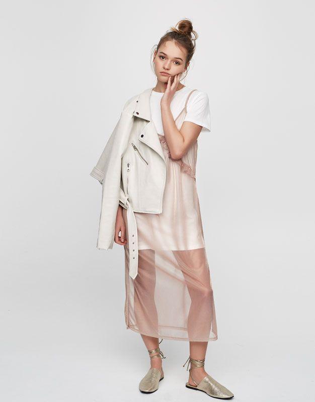 Frilled dress with interior T-shirt - Modern Ruffles - Trends - Woman - PULL&BEAR Albania