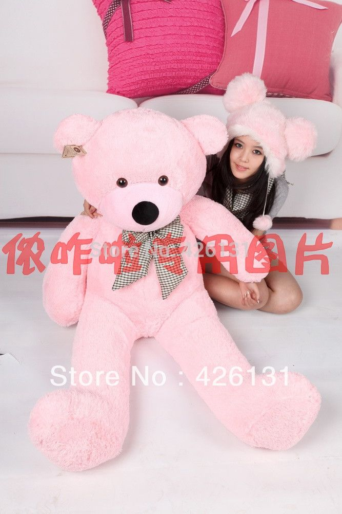 (36.00$)  Buy here  - Wholesale bear enclosure Teddy Bear Fur shell plush toy  160cm  birthday Valentine's Day gift color pink free shipping