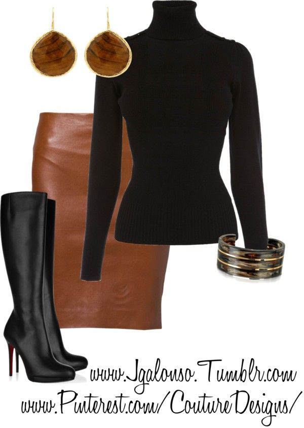 "Sleek n' sexy, Has to be our #LookoftheDay, look at that skirt! ""Couture Chic Designs-Outfit"" by jgalonso on Polyvore. #abbigliamento"