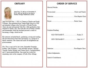 Printable Funeral Service Program Templates   Cards, Memorial Order Of  Service Templates, Funeral Order  Memorial Pamphlet Template Free
