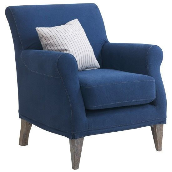 Accent Coast Armchair From French Connection For DFS Blue And Yellow Bedroo