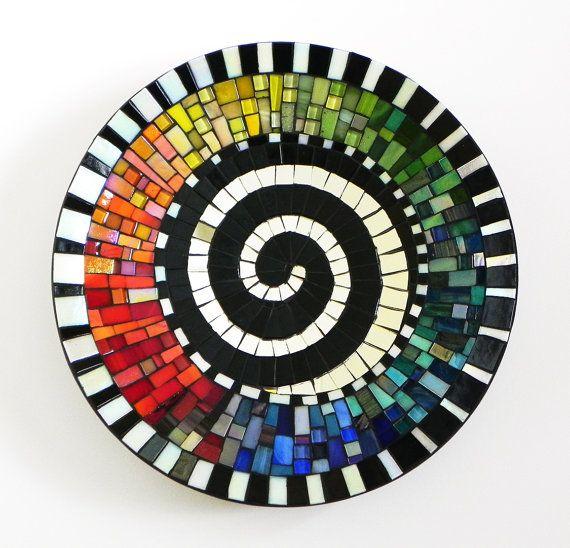 Mosaico arte-arco iris con motivo de espiral por NewArtsonline