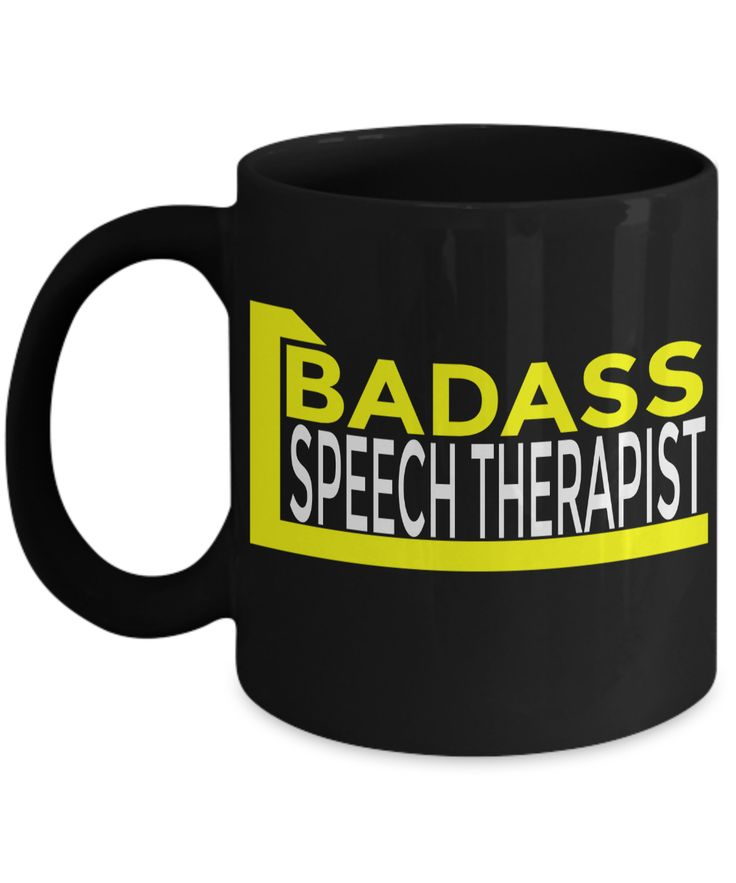 Funny Speech Therapist Gifts - Speech Therapists Mug - Badass Speech Therapist