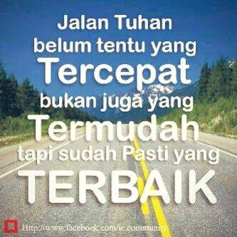 Jalan Tuhan yang terbaik