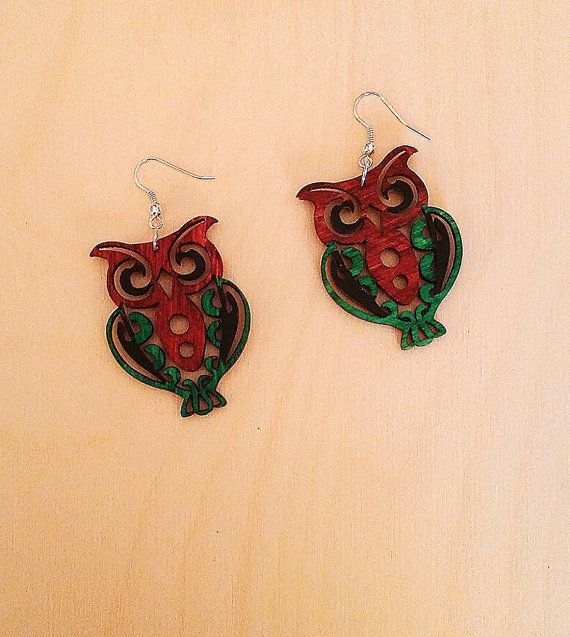 Check out this item in my Etsy shop https://www.etsy.com/listing/481927214/handmade-wooden-earrings-owl