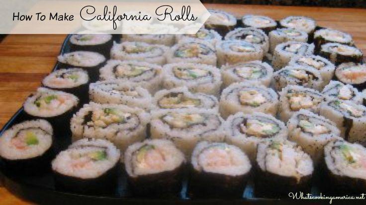 California Rolls Recipe - American Style Sushi Rolls