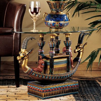 Design Toscano Egyptian Barge To The Beyond Coffee Table