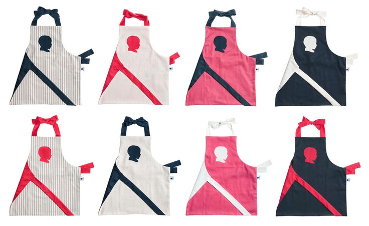 Our customized, handmade, organic cotton children's aprons.