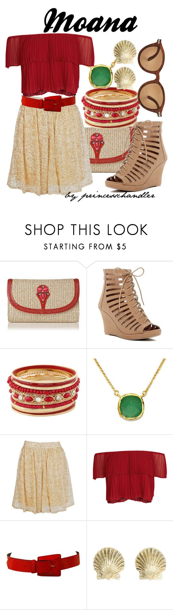 """""""Moana"""" by princesschandler on Polyvore featuring Top Guy, BillyTheTree, Boohoo, Keepsake the Label, Più & Più, Tiffany & Co., WAITING FOR THE SUN, disney, disneybound and moana"""