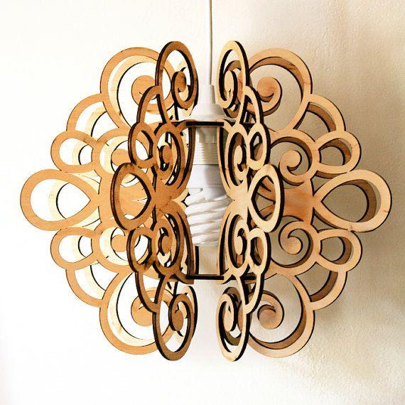 Pendant lamp SPLINE. Made of plywood. Scandinavian por DefdesignUA