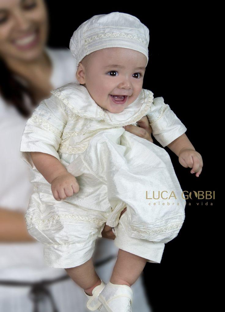 Ropon de Bautizo para niño modelo P04, más información en nuestra tienda en línea --> www.lucagobbi.com  #Ropon #Bautizo #LucaGobbi