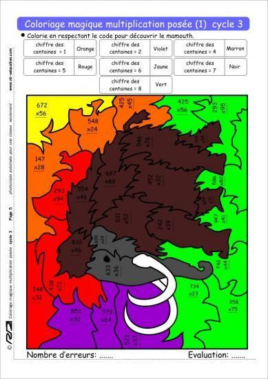 14 best images about coloriages magiques on pinterest - Coloriage magique cycle 2 ...