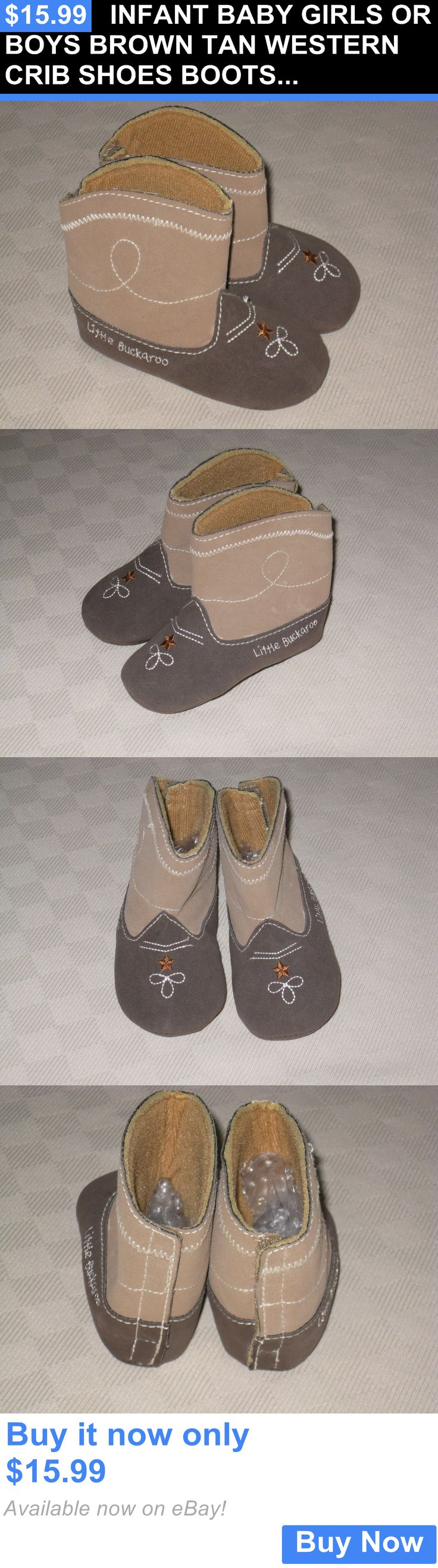 Baby Boy Shoes: Infant Baby Girls Or Boys Brown Tan Western Crib Shoes Boots Size 3-6 M Lknw BUY IT NOW ONLY: $15.99