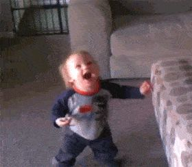 Or a little boy discovering bubbles for the first time: