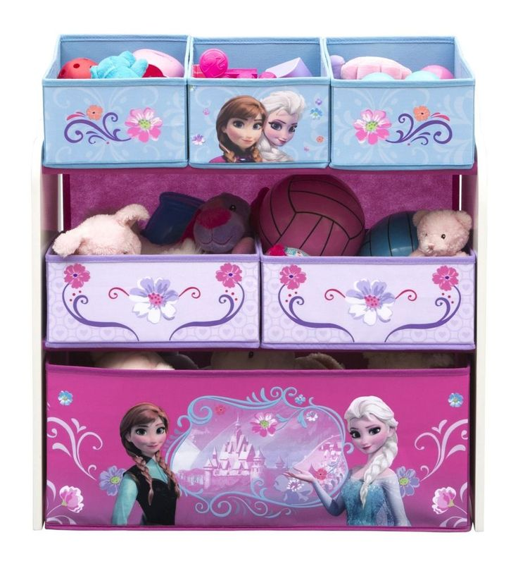Toy Organizer Multi Bin Disney Frozen Children Bedroom Storage Shelf Baskets New  | eBay