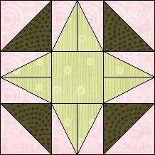 Block of Day for August 28, 2014 - A Star. Good use for the tri-recs ruler