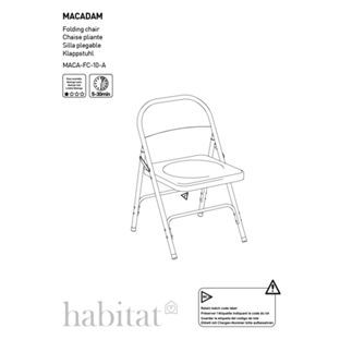 Buy Habitat Macadam Blue Metal Folding Chair at Argos.co.uk - Your Online Shop for Dining chairs.